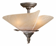"Vaxcel Lighitng (CP-CFU150) Capri 15"" Semi-Flush Mount"