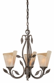 Vaxcel Lighitng (CP-CHU003) Capri 3 Light Chandelier