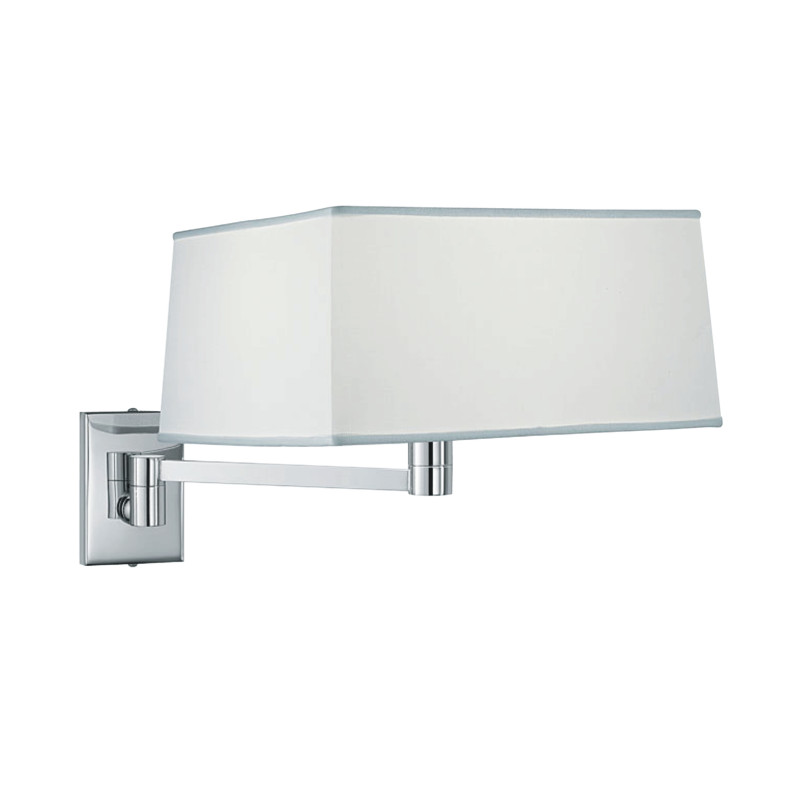 Zaneen Contemporary Carre Wall Sconce (Pin-Up Adaptable) In Chrome Made In Italy - D8-3090