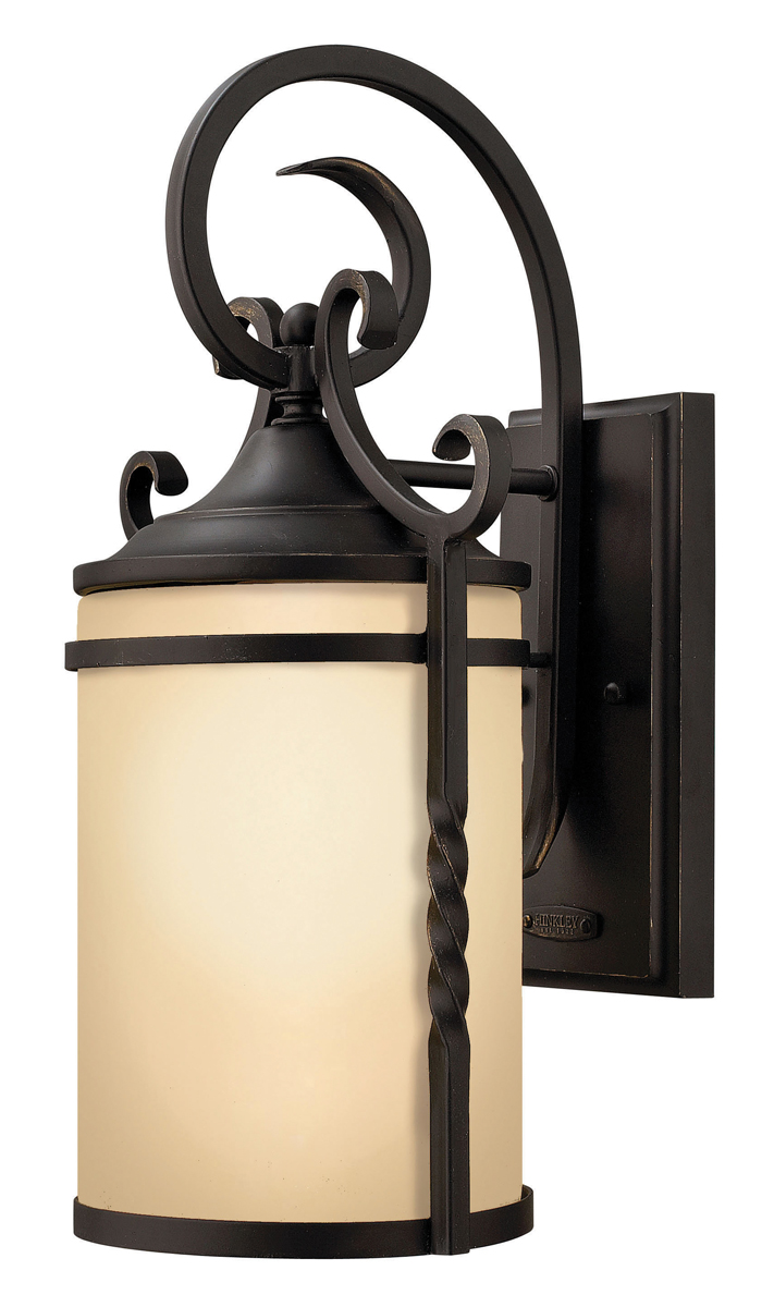 Small Black Wall Sconces : Hinkley Lighting (1140OL-GU24) Casa Small Outdoor GU24 Wall Sconce in Olde Black with Light ...