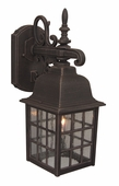 Exteriors by Craftmade (Z270-07) Grid Cage 1 Light Medium Wall Mount in Rust & Clear Seeded Glass