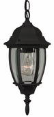 Exteriors by Craftmade (Z261-05) Bent Glass 6.5 Inch Pendant in Matte Black & Clear Beveled Glass