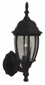 Exteriors by Craftmade (Z260-05) Bent Glass 1 Light Small Wall Mount in Matte Black & Clear Beveled Glass