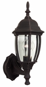 Exteriors by Craftmade (Z260-07) Bent Glass 1 Light Small Wall Mount in Rust & Clear Beveled Glass