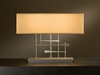 Hubbardton Forge (277670) 2 Light Cavaletti Table Lamp with Shade Options shown in Burnished Steel Translucent Finish