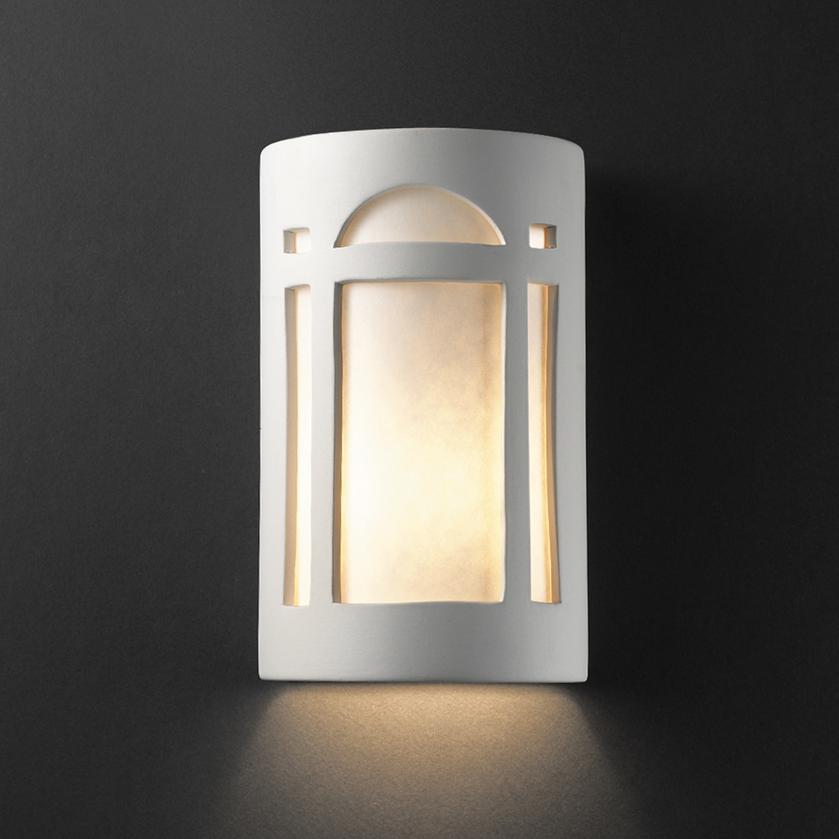 Justice Design Outdoor Wall Sconces : Justice Design (CER-5390W) Large Outdoor ADA Arch Window Wall Sconce from the Ambiance Collection