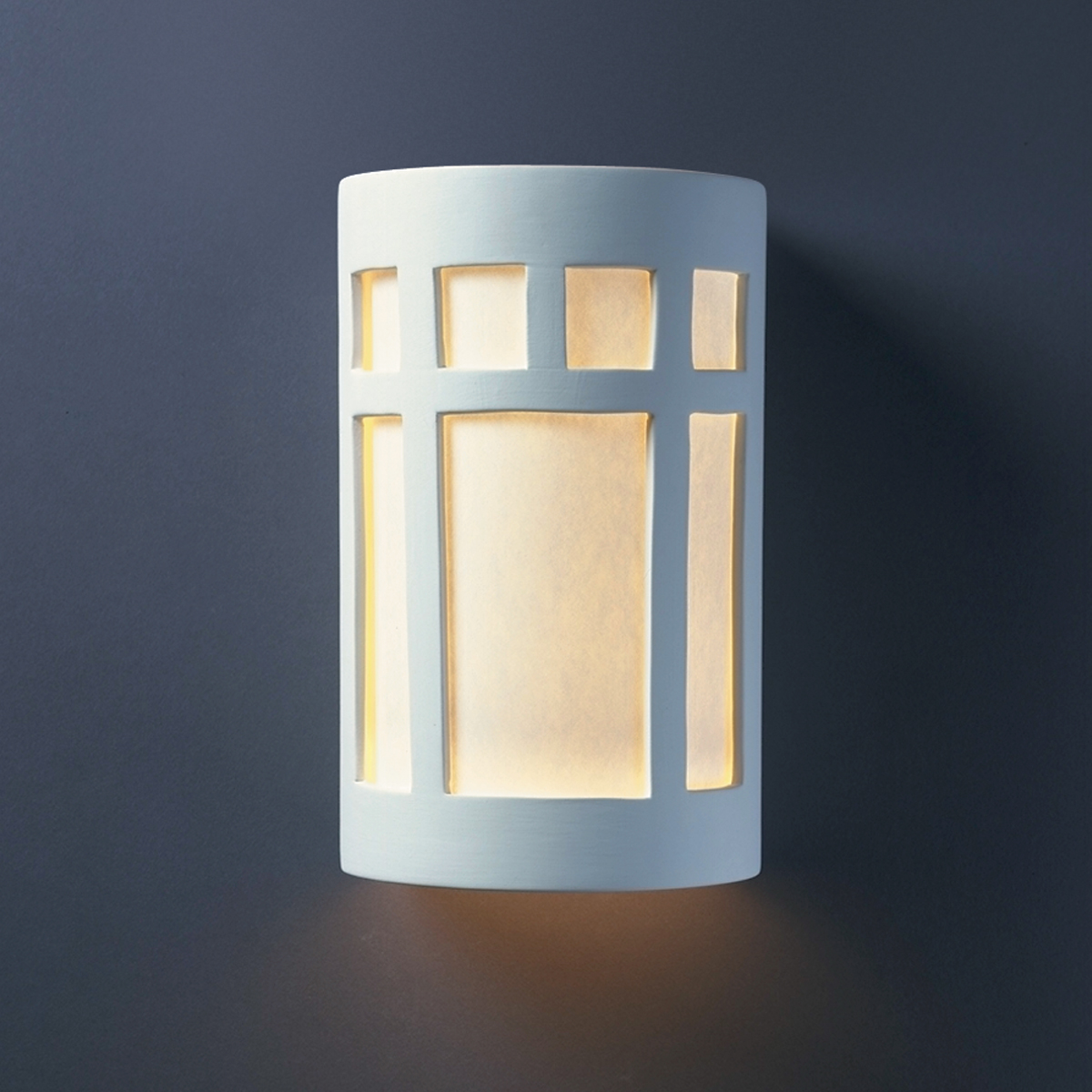 Justice Design (CER-5340W) Small Outdoor ADA Prairie Window Wall Sconce from the Ambiance Collection