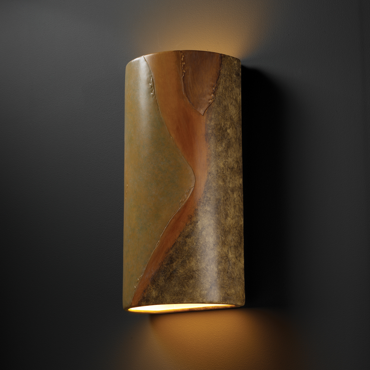 Justice Design (CER-1165W) Really Big Outdoor Cylinder Wall Sconce from the Ambiance Collection