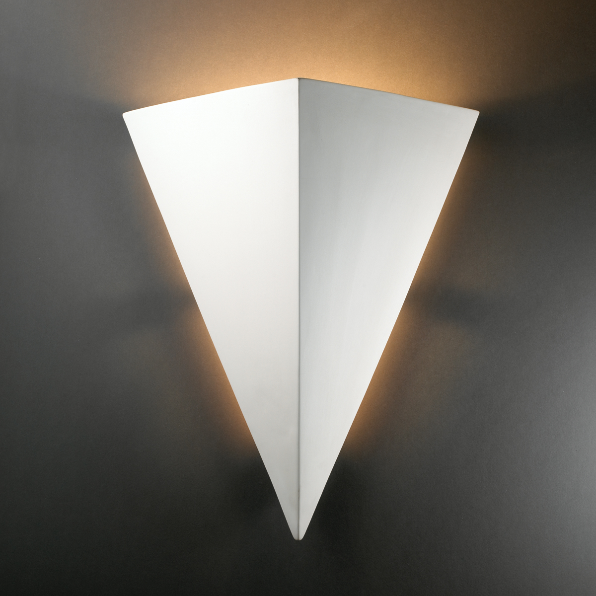 Justice Design Outdoor Wall Sconces : Justice Design (CER-1140W) Really Big Outdoor Triangle Wall Sconce from the Ambiance Collection