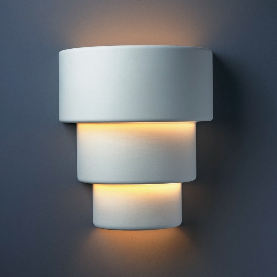 Justice Design Wall Sconces : Justice Design (CER-2235W) Large Outdoor Terrace Wall Sconce from the Ambiance Collection