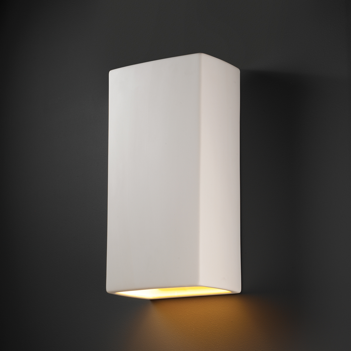 Justice Design (CER-1170W) Really Big Outdoor Rectangle Wall Sconce from the Ambiance Collection