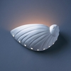 Justice Design (CER-3720) Abalone Shell Wall Sconce from the Ambiance Collection