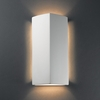 Justice Design (CER-5145) ADA Peaked Rectangle Wall Sconce from the Ambiance Collection