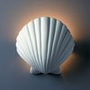 Justice Design (CER-3730) ADA Scallop Shell Wall Sconce from the Ambiance Collection