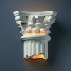 Justice Design (CER-4705) Corinthian Column Wall Sconce from the Ambiance Collection