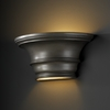 Justice Design (CER-9810) Curved Concave with Glass Shelf Wall Sconce from the Ambiance Collection