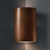 Justice Design (CER-1885) Cylinder Corner Wall Sconce from the Ambiance Collection