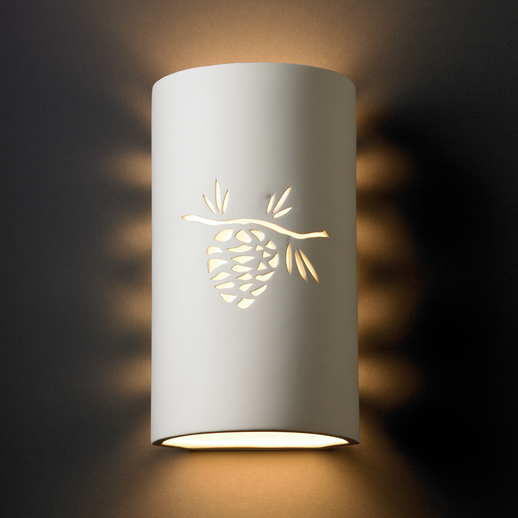 Justice Design Outdoor Wall Sconces : Justice Design (CER-9015) Sun Dagger Large Cylinder Wall Sconce from the Sun Dagger Collection