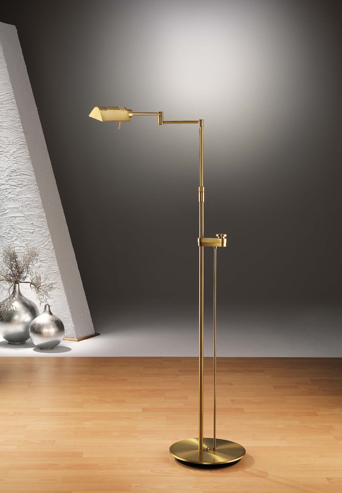 Chairside reading lamp halogen floor lamp with side line for Floor reading lamp with dimmer
