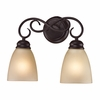 Chatham 2 Light Bath Bar shown in Oil Rubbed Bronze by Cornerstone Lighting