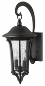 Hinkley Lighting (1384BK) Chesterfield Medium Outdoor Wall Sconce in Black with Clear Seedy Glass