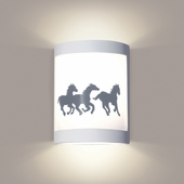 Cheyenne Wall Sconce 1 Light Fixture shown in White Satin by A19 Lighting