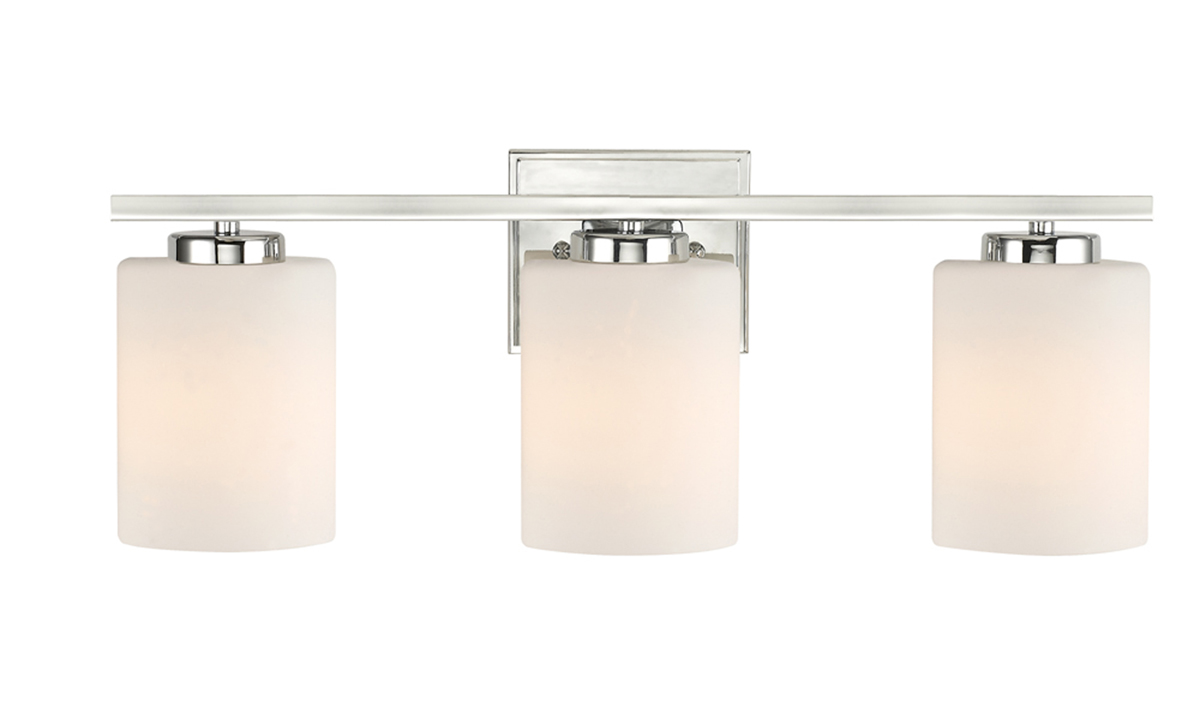 Vanity Light Bar Height : Dolan Design (3883-26) Chloe 3 Light Vanity Bath Bar in Chrome