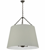 2nd Avenue Lighting (200109.5) Cilindro White Pendant shown in Golden Bronze Finish