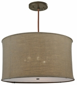 2nd Avenue Lighting (05.0968.36) Cilindro Burlap Pendant shown in Custom Finish