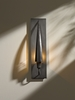 Hubbardton Forge (207420) 1 Light Cirque Wall Sconce shown in Dark Smoke Translucent Finish
