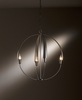 Hubbardton Forge (104203) 4 Light Cirque Large Chandelier shown in Dark Smoke Translucent Finish