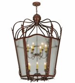 2nd Avenue Lighting (214817.1) Citadel 12 Light Foyer Lantern shown in Rusty Nail Finish