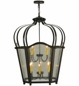 2nd Avenue Lighting (216861.2) Citadel Foyer Lantern shown in Timeless Bronze Finish