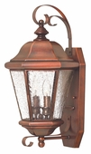 Hinkley Lighting (2265AP) Clifton Beach Medium Outdoor Wall Sconce in Antique Copper with Clear Seedy Bound Shade