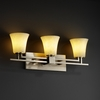 Justice Design (CLD-8703) Aero 3-Light Bath Bar from the Clouds Collection