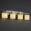 Justice Design (CLD-8704) Aero 4-Light Bath Bar from the Clouds Collection