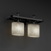 Justice Design (CLD-8562) Arcadia 2-Light Bath Bar from the Clouds Collection