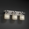 Justice Design (CLD-8503) Argyle 3-Light Bath Bar from the Clouds Collection