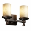 Justice Design (CLD-8532) Deco 2-Light Bath Bar from the Clouds Collection