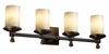 Justice Design (CLD-8534) Deco 4-Light Bath Bar from the Clouds Collection