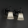 Justice Design (CLD-8582) Heritage 2-Light Bath Bar from the Clouds Collection