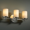 Justice Design (CLD-8513) Rondo 3-Light Bath Bar from the Clouds Collection