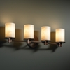 Justice Design (CLD-8514) Rondo 4-Light Bath Bar from the Clouds Collection