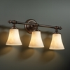 Justice Design (CLD-8523) Tradition 3-Light Bath Bar from the Clouds Collection