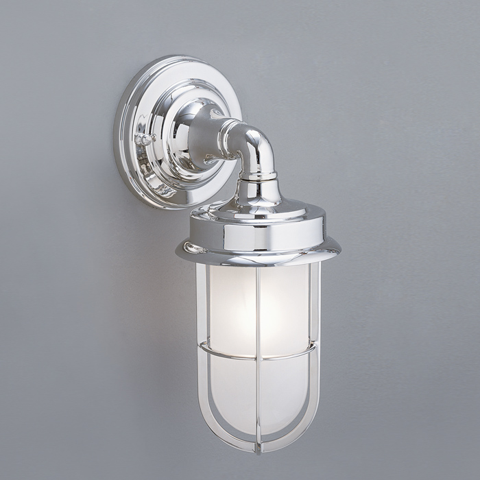 Brushed Chrome Outdoor Wall Lights : Compton Wall Outdoor Wall in Brushed Chrome finish by Norwell Lighting - 1425-BC-SO