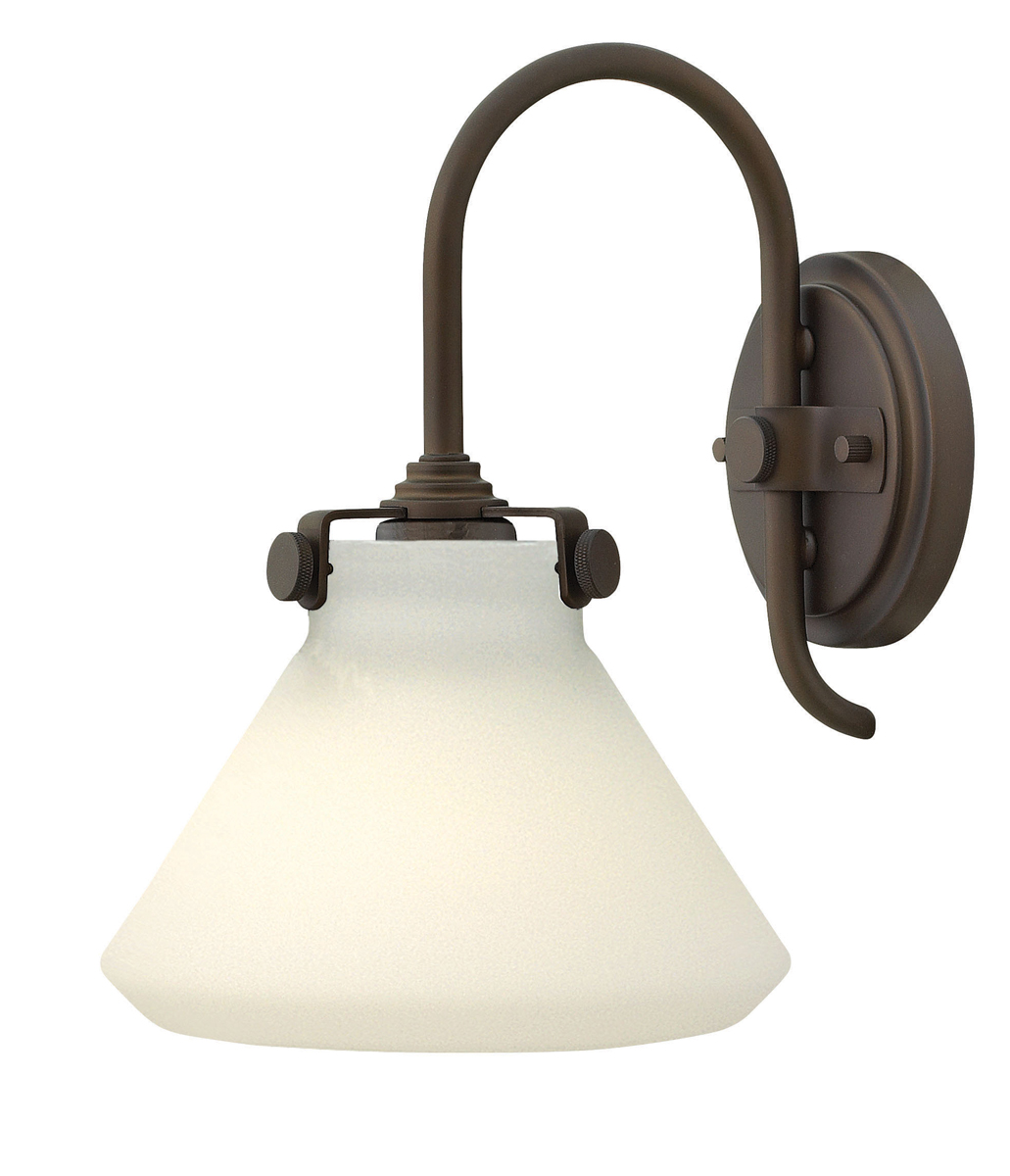 Hinkley Lighting (3170OZ) Congress Single Light Wall Sconce in Oil Rubbed Bronze with Etched ...