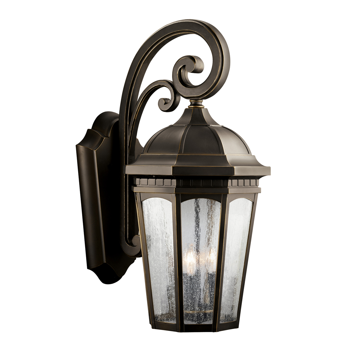 Kichler Lighting (9035RZ) Courtyard 3-Light X-Large Outdoor Wall Sconce in Rubbed Bronze