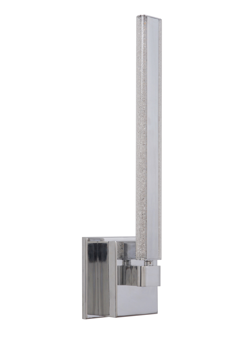 Craftmade (45661-CH-LED) Horizon 1 Arm LED Wall Sconce in Chrome with Crystal Effect Acrylic