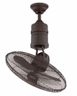 Craftmade (BW321AG3) Bellows III 21 Inch Heavy-Duty Reversible Oscillating Ceiling Fan in Aged Bronze Textured