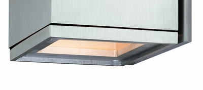 CSL Lighting (CU-2) Cube Frosted Glass Insert Option shown in Satin Aluminum